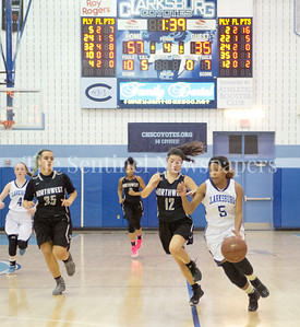 Northwest High School Eva Sanchez (12), Clarksburg High School #5 Miya Mozie (C) (5)