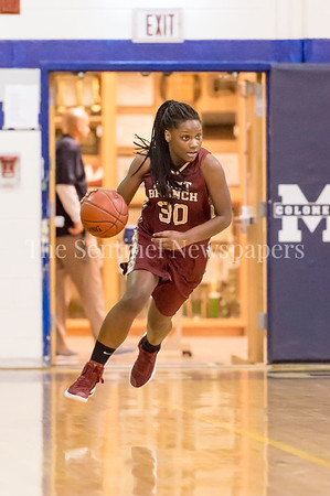 1/19/2017 - Paint Branch guard Katerra Myers (30) brings the ball upcourt for the Panthers, ©2017 Jacqui South Photography