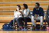 1/19/2017 - Magruder heach coach KaShauna Cook (center) with assistant coach Tariq Uqdah (right) and team trainer Ashley Lazas (left) , ©2017 Jacqui South Photography