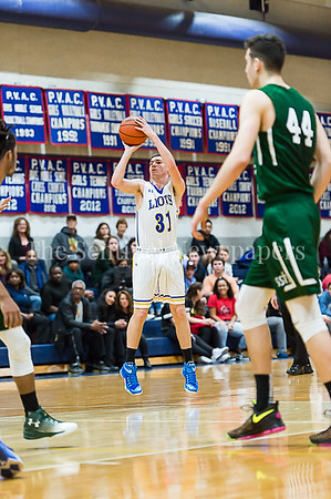 1/26/2017 - Jewish Day's Daniel Zweben (31) scores for the Lions, ©2017 Jacqui South Photography
