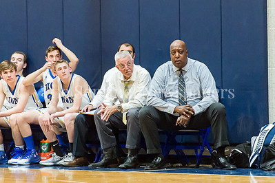 1/26/2017 - Charles E. Smith Jewish Day head coach Dave McCloud (right), ©2017 Jacqui South Photography