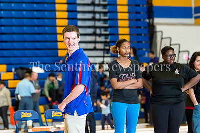 2/4/2017 - Brian Myers (Wootton High School) happy with his throw in the Montgomery County Bocce Championship game vs Northwood High School, ©2017 Jacqui South Photography