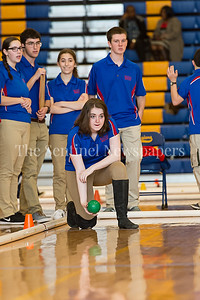 2/4/2017 - Ellyn Rebein (Wootton High School) ready to toss the ball in the Montgomery County Bocce Championship game vs Northwood High School, ©2017 Jacqui South Photography