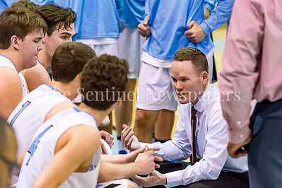 2/7/2017 - Whitman Head Coach Chris Lun during a time out, ©2017 Jacqui South Photography