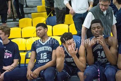 Georgetown Prepartory School Chimezie Offurum (12), Georgetown Prepartory School Jared Bynum (3), \g14\, 02 18 2017 IAC Championship Basketball Game. Georgetown Prep, v Bullis