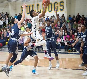 VadoMorse, Georgetown Prepartory School Kamdyn Curfman (5), 02 18 2017 IAC Championship Basketball Game. Georgetown Prep, v Bullis