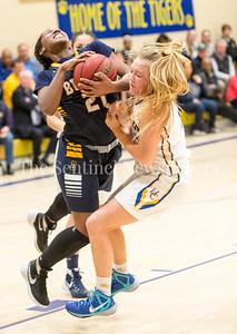 Leilani Moten (21), Katie Kernan (21), 02 21 2017 Bullis v Holy Child Girls Basketball
