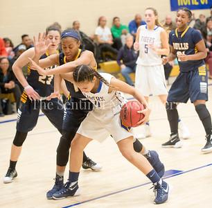 Danielle Willing (14), Tori Yantsos (0), 02 21 2017 Bullis v Holy Child Girls Basketball
