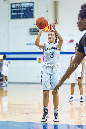 2/24/2017 - Magruder senior guard Kenz Baryoun shoots a foul shot, ©2017 Jacqui South Photography
