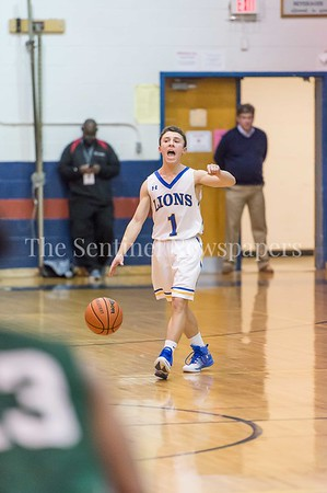 2/25/2017 - Jewish Day School guard Josh Abramowitz (1) during the PVAC Championship, ©2017 Jacqui South Photography