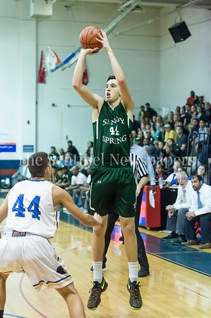 2/25/2017 - Milos Apic shoots a 3-point shot during the PVAC Championship, ©2017 Jacqui South Photography