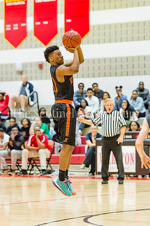 2/25/2017 - Rockville guard Anthony McClean scores a 3-point shot, ©2017 Jacqui South Photography