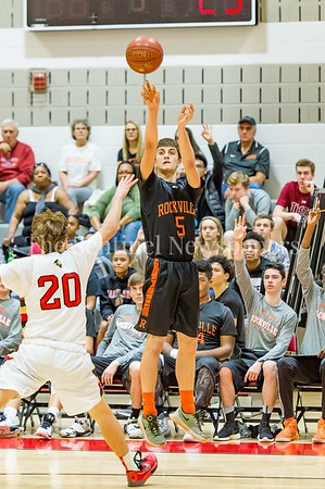 2/25/2017 - Rockville forward Andrew Pace shoots a 3-point shot, ©2017 Jacqui South Photography