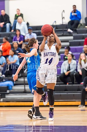 2/25/2017 - Montgomery College guard Armonie Lomax (14), ©2017 Jacqui South Photography