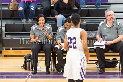 2/25/2017 - Montgomery College Head Coach Tarlouh Gasque, ©2017 Jacqui South Photography