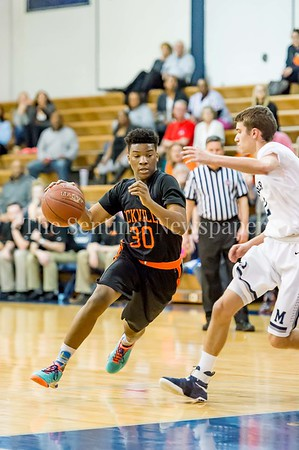 2/28/2017 - Rockville guard Anthony McClean (30), Maryland 3A South Round 2 Playoffs - Rockville v Magruder , ©2017 Jacqui South Photography
