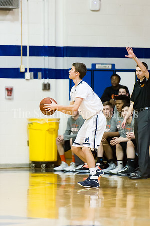 2/28/2017 - Magruder guard Jake Wellek (22), Maryland 3A South Round 2 Playoffs - Rockville v Magruder , ©2017 Jacqui South Photography
