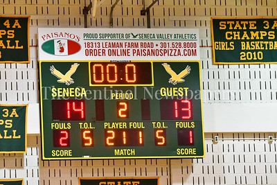 Seneca Valley vs.  Tuscorora Boys Varity Basketball 20170304