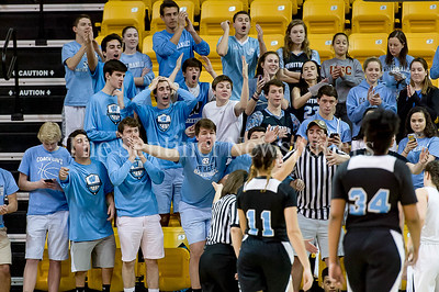 3/9/2017 - Whitman fans disagree with a referee call in the Maryland 4A Girls Semi-Final - Roosevelt v Whitman, ©2017 Jacqui South Photography