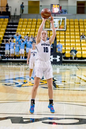 3/9/2017 - Whitman guard Abby Meyers (10) shoots a foul shot in the Maryland 4A Girls Semi-Final - Roosevelt v Whitman, ©2017 Jacqui South Photography