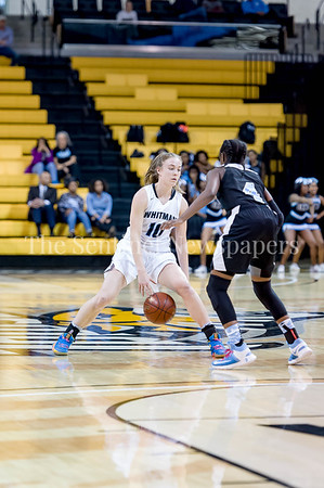 3/9/2017 - Whitman guard Abby Meyers (10) handles the ball in the Maryland 4A Girls Semi-Final - Roosevelt v Whitman, ©2017 Jacqui South Photography