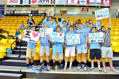 3/8/2016 - Whitman fas prepared with signs supporting the defending Maryland 4A girls champions, ©2017 Jacqui South Photography