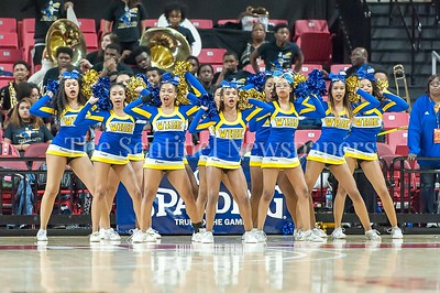 3/9/2017 - Wise cheerleaders during the Maryland 4A Boys Semi-Final - Quince Orchard v Wise, ©2017 Jacqui South Photography