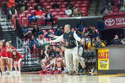 3/9/2017 - Quince Orchard Head Coach Paul Foringer in the Maryland 4A Boys Semi-Final - Quince Orchard v Wise, ©2017 Jacqui South Photography