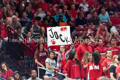 3/9/2017 - Quince Orchard fan at the Maryland 4A Boys Semi-Final - Quince Orchard v Wise, ©2017 Jacqui South Photography
