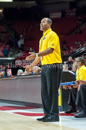 3/9/2017 - Wise Head Coach Robert Garner during the Maryland 4A Boys Semi-Final - Quince Orchard v Wise, ©2017 Jacqui South Photography