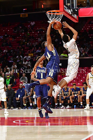 03 2017 -   Tyran Crawford gets robbed of two points by Potomac's Emmanuel Diby  MPSSAA 3A Semi-finals.  Photo Credit:  David Wolfe