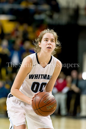 3/11/2017 - Olivia Meyers (00) was 9-12 from the foul line in the Maryland Girls 4A Championship - Catonsville v Whitman, ©2017 Jacqui South Photography