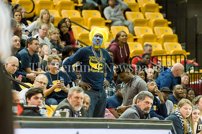 3/11/2017 - A Catonsivlle fan questions a referee call in the Maryland Girls 4A Championship - Catonsville v Whitman, ©2017 Jacqui South Photography