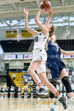 3/11/2017 - Olivia Meyers (00) is fouled by Catonsville's Jen Gast (3) in the  Maryland Girls 4A Championship - Catonsville v Whitman, ©2017 Jacqui South Photography