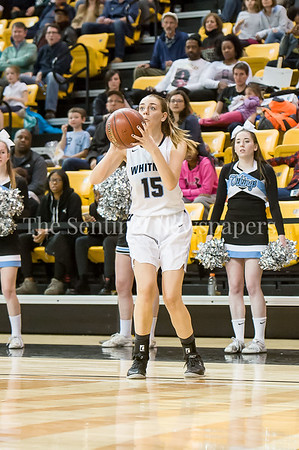 3/11/2017 - Isabel Manzano (15) shoots a 3-point shot in the Maryland Girls 4A Championship - Catonsville v Whitman, ©2017 Jacqui South Photography