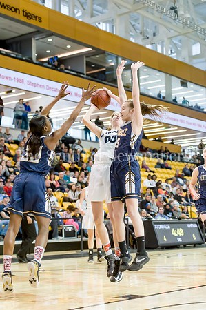 3/11/2017 - Olivia Meyers (00) shoots over Catonsville defenders Jasmine Dickey (20) and Gabby Doulas (5) in the Maryland Girls 4A Championship - Catonsville v Whitman, ©2017 Jacqui South Photography