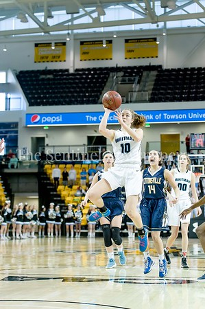 3/11/2017 - Abby Meyers (10) shoots a 3-point shot in the Maryland Girls 4A Championship - Catonsville v Whitman, ©2017 Jacqui South Photography
