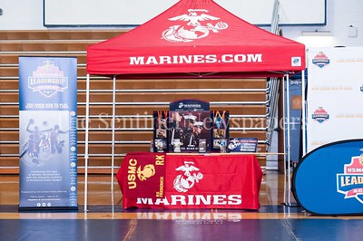 4/1/2017 - The Marines table at the USMC Sports Leadership Academy Wrestling Clinic, ©2017 Jacqui South Photography