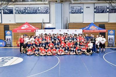 4/1/2017 - USMC Sports Leadership Academy Wrestling Clinic, ©2017 Jacqui South Photography