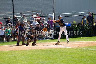 Bethesda-Chevy Chase Barrons outfielder Joe Eisenberg (33), 05 15 2017 Bethesda-Chevy Chase v Northwood Baseball. Playoff round 1
