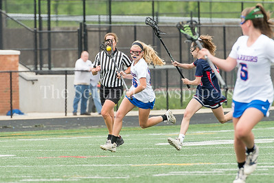 5/20/2017 - Sherwood attack Katie Cunius (16) in the Bel Air  v Sherwood Girls 3A/4A Regional Championship Lacrosse Game, ©2017 Jacqui South Photography