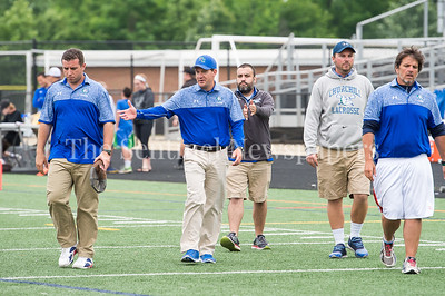 5/20/2017 - Churchill boys lacrosse coaching staff  in the 4A/3A Regional Championship lacrosse game at Gaithersburg High School, ©2017 Jacqui South Photography