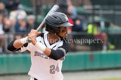 5/23/2017 - Northwest left fielder Jalen Magbie Hunter (24) at bat in the 4A Regional Championship game at Shirley Povic Field,  ©2017 Jacqui South Photography