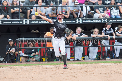 5/27/2017 -Northwest 3rd baseman Megan Ridenour in the Maryland 4A championship softball game, ©2017 Jacqui South Photography
