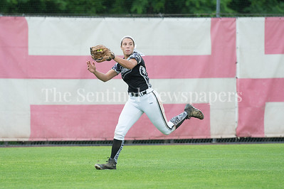 5/27/2017 - Northwest outfielder Alexis Mack grabs a couble hit by Amanda Berkley in the5th inning during the Maryland 4A championship softball game, ©2017 Jacqui South Photography