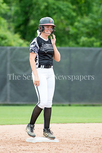 5/27/2017 - Alex Karamihas on 2nd base after hitting her 2nd double of the day during the Maryland 4A championship softball game, ©2017 Jacqui South Photography