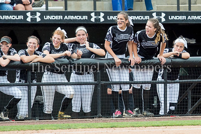 5/27/2017 - The Northwest dugout in the Maryland 4A championship softball game, ©2017 Jacqui South Photography