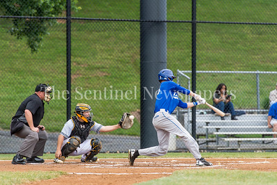 6/5/2017 - Baltimore batter David Bellamy (13) misses as Gaithersburg catcher Trey Martinez (17) grabs the pitch, ©2017 Jacqui South Photography