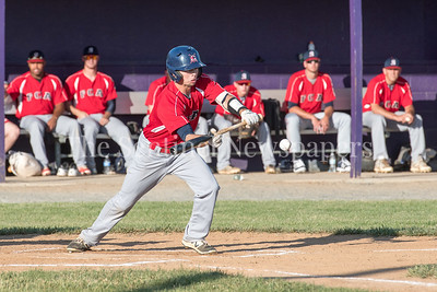 6/9/2017 - Herndon Braves Cayden Stover (4) with a bunt sacrifice in the 1st inning, ©2017 Jacqui South Photography