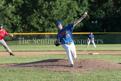 6/9/2017 - Rockville Express starting pitcher Doug Pearl (19) lasted 7 1/3 innings in tonight's win over Herndon 8-4 , ©2017 Jacqui South Photography